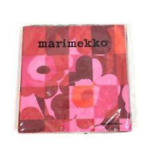 Marimekko Paper Lunch Napkins Red Pink Flowers 20 Count