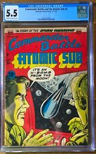 Commander Battle and the ATOMIC SUB #3, 5.5 Fine-, Cream to OW Pages, 4th Best