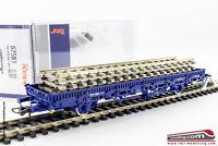 ROCO 67583 - H0 1:87 - Carro merce pianale NL con sezioni di binario e traversin