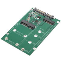 mSATA / M2 NGFF SSD to SATA Converter Adapter Combo Card M.2 2 In 1