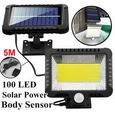100 LED Solar Power Garden Light PIR Motion Sensor Flood Lamp Indoor Outdoor