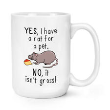 Oui I Ont Une Rat Pour Animal Non It Isn't Grand 426ml Mighty Tasse - Gros Large