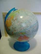 "Globemaster 12"" Globe Raised Relief with Blue Base & Arm Globe"