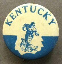 "1940's to 1950's KENTUCKY Illustrated football large size 1.5"" pinback button ^"