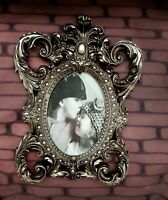 Antique ShabbyChic Photo Frame Vintage French Ornate Baroque Rococo Wedding Oval