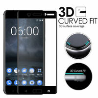 3D Premium Full Cover Tempered Glass  9H Screen Film Protect For Nokia 3/5/6 HOT