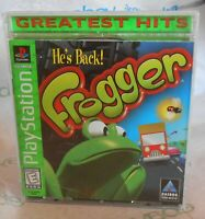 Playstation Frogger Video Game . Greatest Hits . Hasbro . Vintage 1998