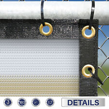9ft Beige white Fence Privacy Screen Commercial 95% Blockage Mesh w/Gromment