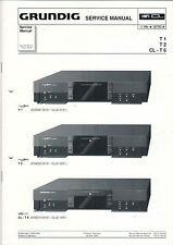 Grundig Service Anleitung Manual T 1 T 2 CL - T 6  B556