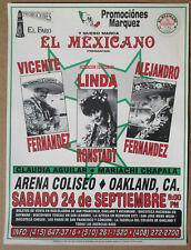 LINDA RONSTADT Oakland Coliseum 1994 Concert POSTER VICENTE FERNADEZ ALEJANDRO