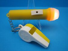"""OLD TIME VINTAGE RETRO STYLE   """"MINI FLASHLIGHT AND TOY WHISTLE""""  (VERY COOL)"""