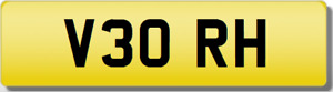 RH 3 ORH 30 THIRTY INITIALS Private CHERISHED Registration Number Plate