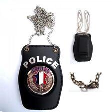 Porte insigne Police nationale, Piel Cabrera
