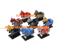 8 pcs Minifigures War Knight Horse Armor Medieval Rome Knights Animal lego MOC