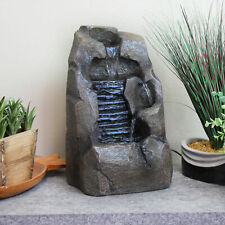 Sunnydaze Stony Rock Waterfall Indoor Tabletop Fountain - 11-Inch Water Feature