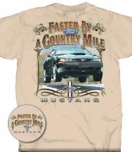 """Faster By A Country Mile"" BULLITT Mustang T-Shirt - 2001 Mustang BULLITT Image!"