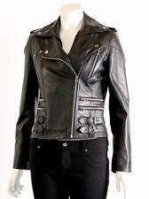 Petite Leather Outdoor Biker Jackets for Women
