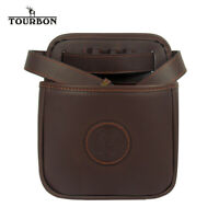 TOURBON Leather Cartridge Pouch Shotgun Waist Shell Belt Holder 12/16/20GA Shoot