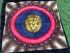 Rare Antique Strook Lion's Head Horsehair Buggy/Sleigh Blanket - Near Mint!
