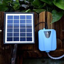 Aquarium Garden Pool Water Air Pump Solar Powered Panel Air Oxygenator Pond