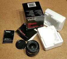 Vivitar 28mm F2.8 MC Wide Angle Manual Lens - Pentax PK A/R Fit, Boxed