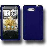 AMZER Silicone Soft Skin Jelly Fit Back Case Cover for HTC Aria - Blue