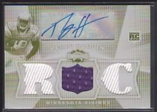 PERCY HARVIN 2009 TOPPS TRIPLE THREADS RC WHITE WHALE PLATE AUTO JERSEY SP 1/1