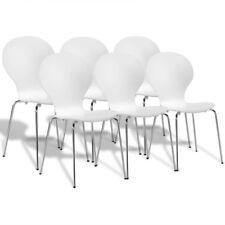 291972 Set Sedie da tavola sala cucina a farfalla impilabili 2/4/6 nere/bianche