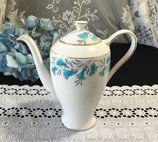 """Royal Standard """"Celebrity"""" with Blue Scillas Flowers Coffee/Teapot 7 1/2"""""""
