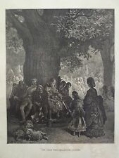 Gustave Dore London A Pilgrimage Great Tree Kensington Park Engraving 1872