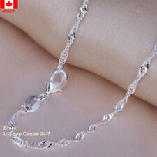 4 Pcs.925 Sterling Silver Quality Water Wave Necklace Chain 1.6mm Width 18 inch