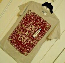 Mens ZOO YORK t shirt tee size Small 100% Cotton light gray