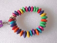 Wooden Multi-coloured Beaded Bracelet Rainbow Gay Pride Lesbian