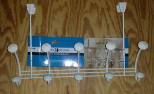 InterDesign Hex Knob Over Door Hook Storage Rack Organizer 01544 *** NEW ***