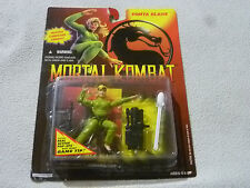 "NEW ON CARD MORTAL KOMBAT SONYA BLADE GREEN SUIT 3 3/4"" FIGURE 1994 HASBRO NOC >"