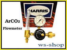 HARRIS Druckminderer Druckregler 200 bar für Argon, CO2 Mischgas mit Flowmeter