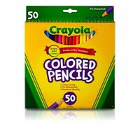 Crayola Long Coloured Colouring Pencils Pencil Crayon 50 Bright Colours 68-4050