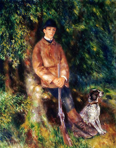 Renoir 1881, Alfred Berard & His Dog, Fade Resistant HD Art Print or Canvas
