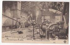 La Guerre Dans Le Nord WW1 France Puits De Mine Bombarde Postcard US085