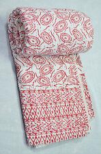 Indian Cotton Kantha Quilt Traditional Blanket Bedding Bedspread Ethnic Coverlet