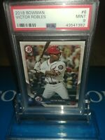 PSA 9 MINT ~2018 Bowman Victor Robles Rookie #6 #RC LOGO NATIONALS STAR🔥⚾🔥