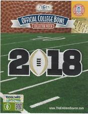 2018 CFP National Championship Playoff Game Patch White Football Worn by Alabama