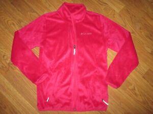Girls COLUMBIA super soft fleece jacket  sz M Md Med