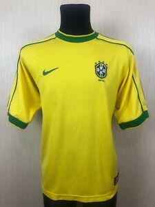 BRAZIL 1998/2000 HOME BRASIL FOOTBALL SOCCER JERSEY SHIRT ADULT NIKE SIZE L