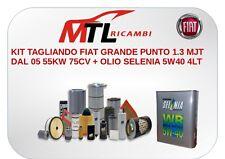 KIT TAGLIANDO FIAT GRANDE PUNTO 1.3 MJT DAL 05 55KW 75CV + OLIO SELENIA 5W40 4LT
