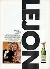 1967 Lejon California Champagne couple clebrating vintage photo print ad ads46