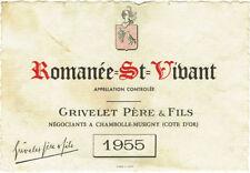 Étiquettes pour vins et gastronomie Années 1950