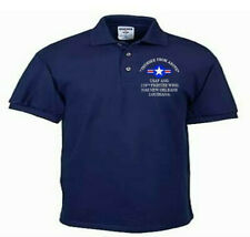 159TH FIGHTER WING*NAS NEW ORLEANS*USAF ANG*EMBROIDERED LIGHTWEIGHT POLO SHIRT