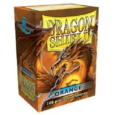 Dragon Shield Standard Size Card Barrier Protector Sleeves 100ct - Orange