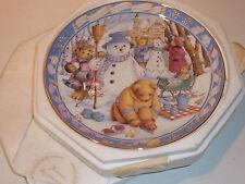 Assiette teller DOULTON franklin TEDDY BEAR WINTER WONDERLAND Linda Griffith
